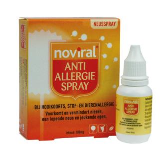 Noviral Anti Allergie Spray - Helpt bij hooikoorts, stof- en dierenallergie